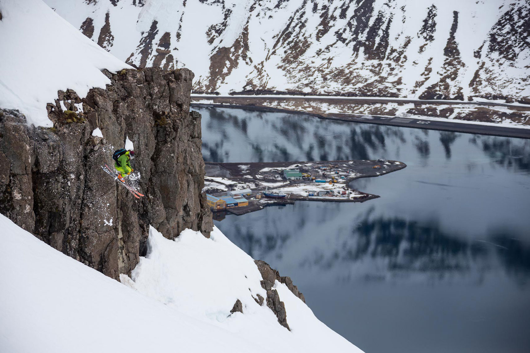 Marcus Caston Skiing Iceland Photo: Gabe Rogel