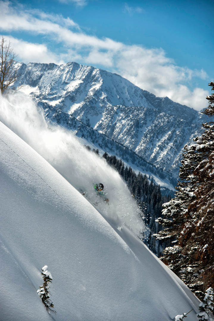 Marcus Caston skiing Alta Photo: Lee Cohen